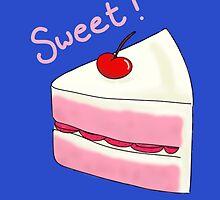 Sweet Strawberry Cake by TearsFromVenus