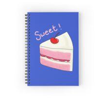 Sweet Strawberry Cake Spiral Notebook