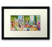 masquerade ball Framed Print