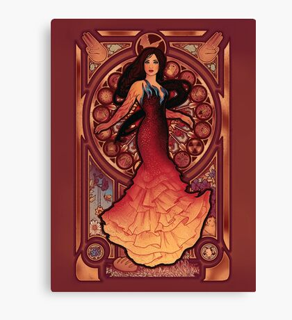 Fire is Catching Canvas Print