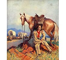 Polly Kent Rides West Photographic Print