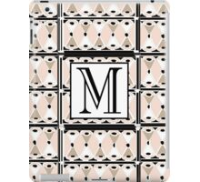 1920s Pink Champagne Gatsby Monogram letter M iPad Case/Skin