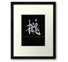Metal Gear Solid - Philanthropy (white) Framed Print