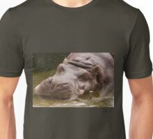 Huge bored Hippopotamus Unisex T-Shirt