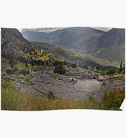 The Amphitheatre, Delphi Poster