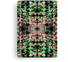 Abstract pattern design in trendy colours Canvas Print