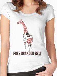 Free Brandon Belt Giraffe Women's Fitted Scoop T-Shirt