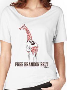 Free Brandon Belt Giraffe Women's Relaxed Fit T-Shirt