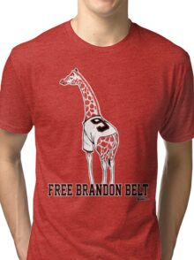 Free Brandon Belt Giraffe Tri-blend T-Shirt