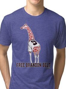 Free Brandon Belt Giraffe Tri-blend T-Shirt