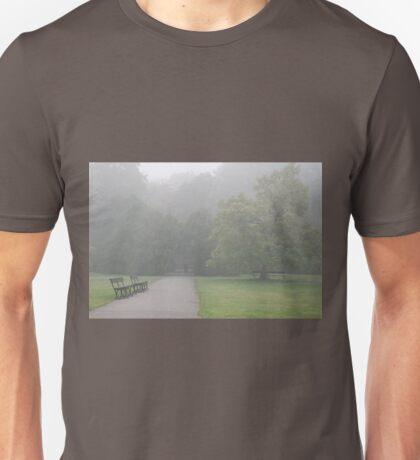 Gloomy autumn lonely walk Unisex T-Shirt