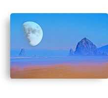 Cannon Beach Moon Canvas Print
