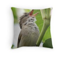 Australian Reed Warbler Throw Pillow