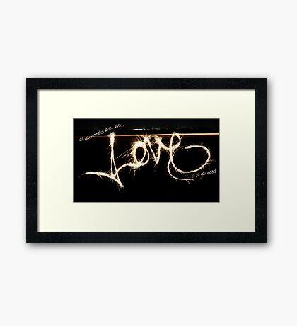Love, Love, Love. Framed Print