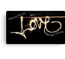 Love, Love, Love. Canvas Print