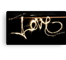 Love, Love, Love. Canvas Print