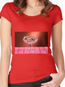sponge cookies with chocolate Women's Fitted Scoop T-Shirt