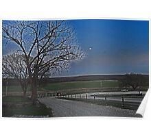 Moon over Kansas Poster