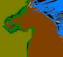 horse -(110811)- Digital drawing/MS Paint by paulramnora