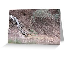 Tree in sediment Greeting Card