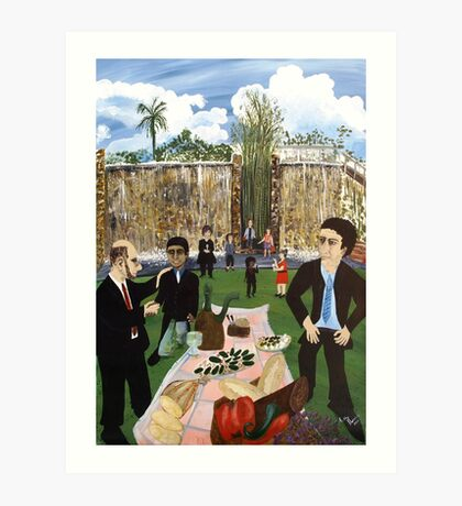 Corporate Lunch Art Print