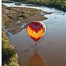 Touching Rio Grande Hot Air Balloon by doorfrontphotos