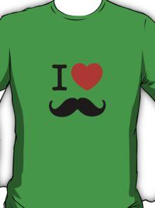 I Love Moustaches T-Shirt