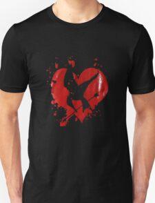 mocking jay heart logo Unisex T-Shirt