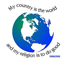 My Country is the World Photographic Print