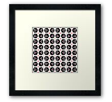 Abstract  geometry color seamless pattern . Framed Print