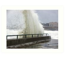 Wet Boardwalk ! Art Print