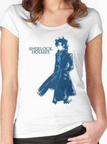 Sherlock Holmes - Blue Women's Fitted Scoop T-Shirt