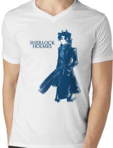 Sherlock Holmes - Blue Mens V-Neck T-Shirt