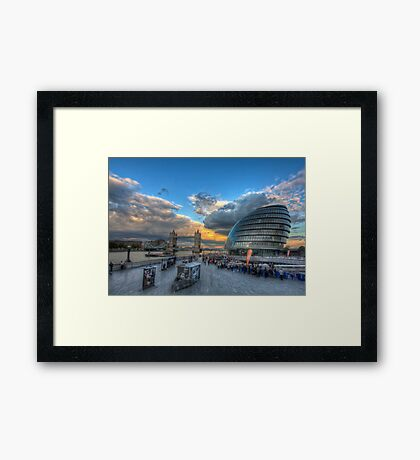 Contrasting Architecture Framed Print