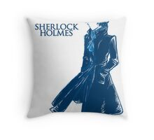 Sherlock Holmes - Blue Throw Pillow