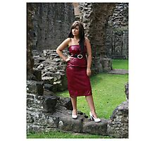 Red Dress. Photographic Print