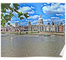 St Pauls Cathedral across the Thames Poster