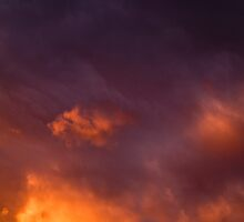 Sunset on a Storm by Angus McLaren