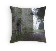 Church Ruins at Eastwell Throw Pillow