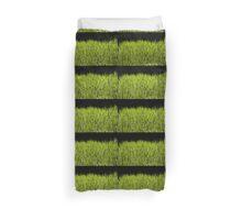 Green fresh bright grass leaves Duvet Cover