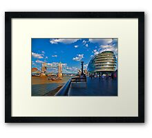 Tower Bridge and City Hall Framed Print