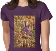 oats and Vicia flowers grow Womens Fitted T-Shirt