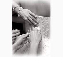 Bridal wedding dress buttons Womens Fitted T-Shirt