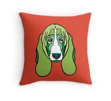 Vert the Basset Throw Pillow