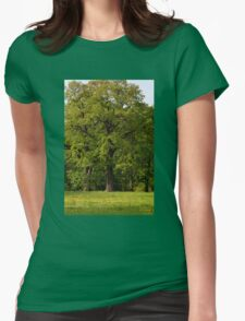 Large old oak tree Womens Fitted T-Shirt
