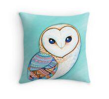 Tribal Pattern Barn Owl Throw Pillow