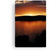 lake zurich sunset Canvas Print