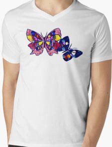 Pattern Butterflies Mens V-Neck T-Shirt