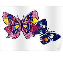 Pattern Butterflies Poster