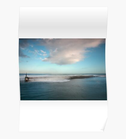 Seahouses Sea Barrier Poster